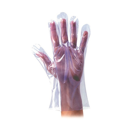 Polythene Disposable Gloves Blue Large 100's