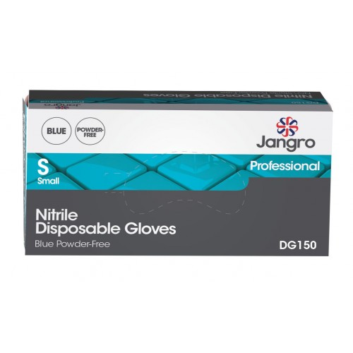 Nitrile Disposable Gloves Powder Free Blue 100'S S