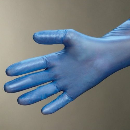 Vinyl Disposable Gloves Pre-Powdered Blue 100's S