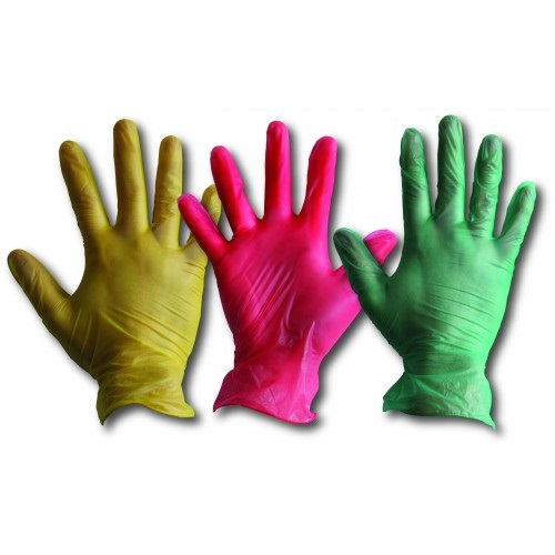 Vinyl Disposable Gloves Powder Free Red 100's S