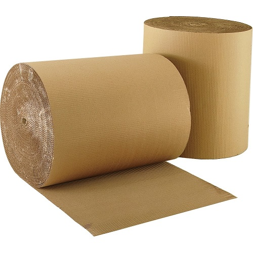 Corrugated Paper 900mm x 75m Brown Single Roll