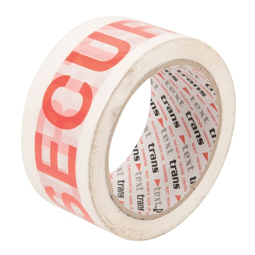 "Vinyl Printed Tape 48mm x 66m ""SECURITY"" Red / White 36 Rolls"