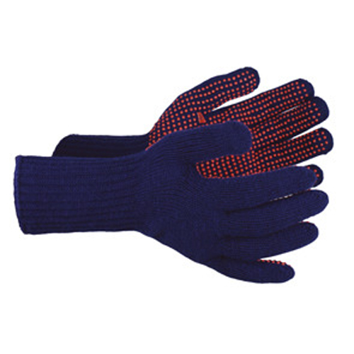 Red Dot Grip Glove Navy with Red Dots